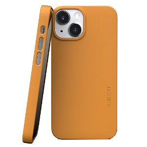Nudient Thin Case V3 iPhone 13 Mini Deksel - Saffron Yellow