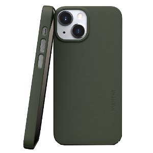 Nudient Thin Case V3 iPhone 13 Mini Deksel - Pine Green