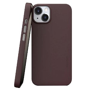 Nudient Thin Case V3 iPhone 13 Deksel - Sangria Red