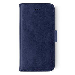 KEY Premium Collection iPhone Xs Max Skinndeksel med Lommebok Blå