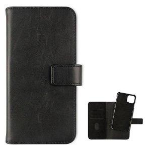 iPhone 11 Pro Max KEY Premium Collection Avtagbart Skinn Etui med Pung Svart