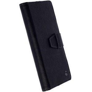 Krusell Universal Värgon Wallet Case Deksel med Lommebok Svart (Maks. Mobil: 155 x 75 x 10 mm)