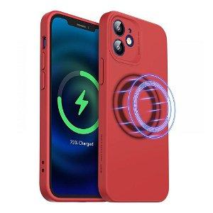 iPhone 12 ESR MagSafe Kompatibel Cloud HaloLock Deksel V2  - Rød