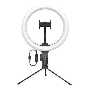 Baseus Live Stream / Selfie Ring Light m. Mobilholder & Bord Tripod - Sort
