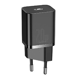 Baseus Super Si Vegglader USB-C QC 20W - Sort