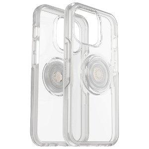 OTTERBOX + POPSOCKETS iPhone 13 Pro Symmetry Series Håndverker Deksel med Innebygd PopGrip - Gjennomsiktig