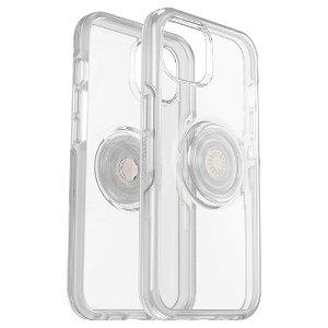 OTTERBOX + POPSOCKETS iPhone 13 Symmetry Series Håndverker Deksel med Innebygd PopGrip - Gjennomsiktig