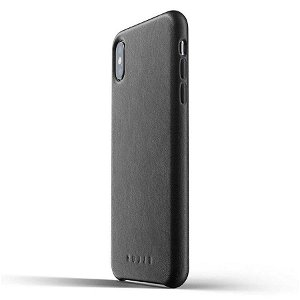 Mujjo iPhone Xs Max Leather Case / Ekte Skinn - Svart