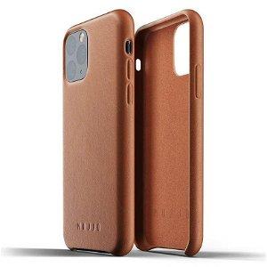 Mujjo iPhone 11 Pro Leather Case Brun