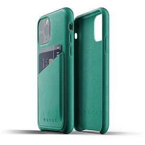 Mujjo iPhone 11 Pro Leather Wallet Case Grønn