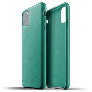Mujjo iPhone 11 Pro Max Leather Case Grønn