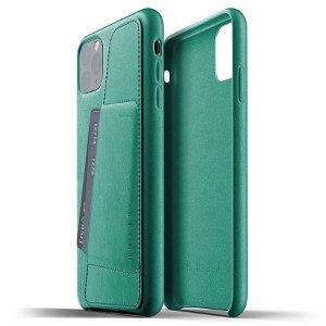 Mujjo iPhone 11 Pro Max Leather Wallet Case Grønn