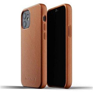 Mujjo iPhone 12 Mini Skinndeksel Brun