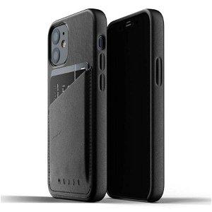 Mujjo iPhone 12 Mini Skinndeksel med Lommebok Svart