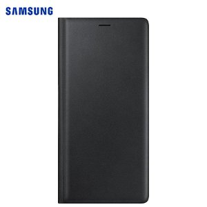 Original Samsung Galaxy Note 9 Leather Wallet Case - EF-WN960LB - Svart