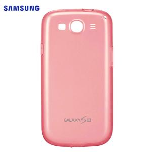 Original Samsung Galaxy S3 Halv-Gjennomsiktigt TPU Case (EFC-1G6WPE) Pink