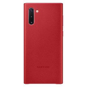 Original Samsung Galaxy Note10 Leather Case EF-VN970LREGWW - Rød