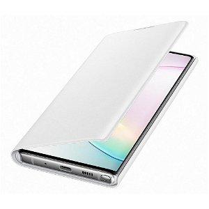 Original Samsung Galaxy Note10 LED View Case med Lommebok - EF-NN970PWEGWW - Hvit