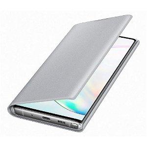 Original Samsung Galaxy Note10 LED View Case med Lommebok - EF-NN970PSEGWW - Sølv