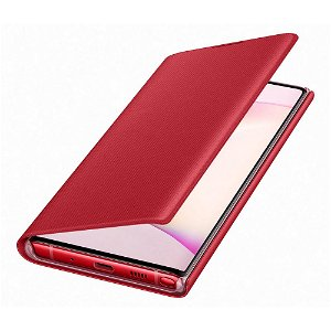 Original Samsung Galaxy Note10 LED View Case med Lommebok - EF-NN970PREGWW - Rød