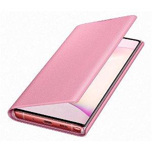 Original Samsung Galaxy Note10 LED View Case med Lommebok - EF-NN970PPEGWW - Pink