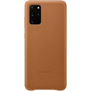 Original Samsung Galaxy S20+ (Plus) Leather Case EF-VG985LA - Brun