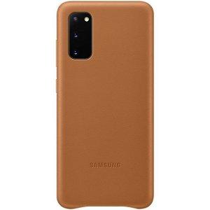 Original Samsung Galaxy S20 Leather Case EF-VG980LA - Brun