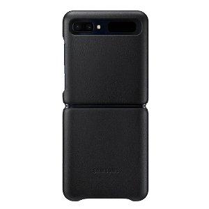 Original Samsung Galaxy Z Flip Skinndeksel EF-VF700LB - Svart