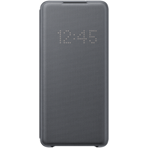 Original Samsung Galaxy S20+ (Plus) LED View Case med Lommebok - EF-NG985PJ - Grå