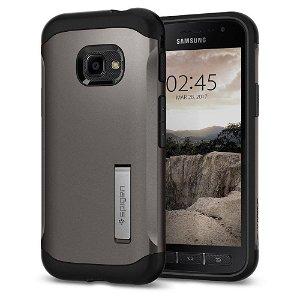 Samsung Galaxy Xcover 4 / 4s Deksel Spigen Slim Armor Gunmetal