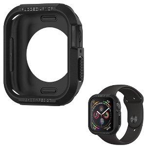 Apple Watch SE/6/5/4 (44mm) SPIGEN Rugged Armor Case - Fleksibelt Deksel - Svart