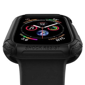 Apple Watch SE/6/5/4 (44mm) SPIGEN Tough Armor Case - PC + Fleksibelt Deksel - Svart