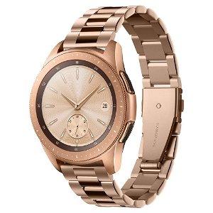 Samsung Galaxy Watch (42mm) Spigen Modern Fit Band - Rustfritt Stål Reim med Pinner - Rose Gull