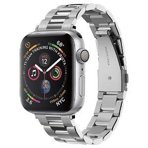 Apple Watch (38-41mm) Spigen Modern Fit Band - Rustfritt Stål Reim med Pinner - Sølv