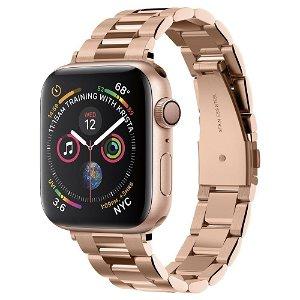Apple Watch (38-41mm) Spigen Modern Fit Band - Rustfritt Stål Reim med Pinner - Rose Gull