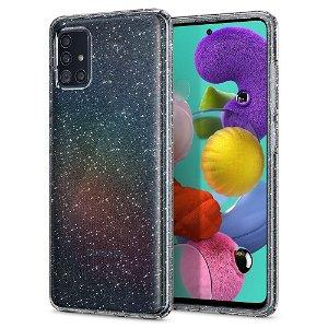 Spigen Samsung Galaxy A51 Case Liquid Crystal Glitter Gjennomsiktig