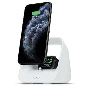 Spigen S316 2in1 Dock Til iPhone, Airpods & Apple Watch - Hvit