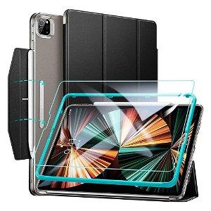 """iPad Pro 12.9"""" (2021) ESR Ascend ESR Ascend Tri-Fold Deksel - Skjermbeskytter - Svart"""