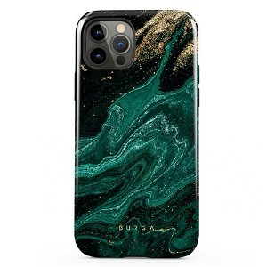 Burga iPhone 12 / 12 Pro Tough Fashion Deksel - Emerald Pool