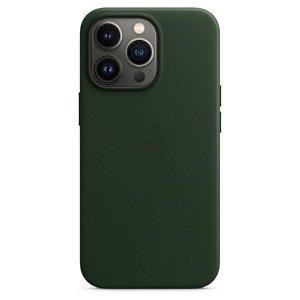 Original Apple iPhone 13 Pro Ekte Skinndeksel Magsafe Sequoiagrøn (MM1G3ZM/A)