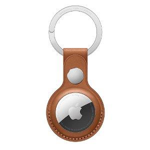Original Apple AirTag Nøkkelring i Skinn - Salbrun