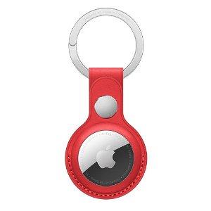 Original Apple AirTag Nøkkelring i Skinn (PRODUCT)RED - Rød