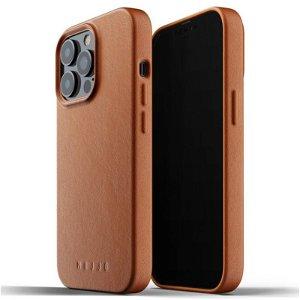 Mujjo iPhone 13 Pro Vegan Leather Deksel - Brun
