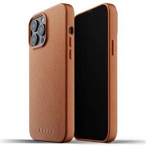 Mujjo iPhone 13 Pro Max Vegan Leather Deksel - Brun