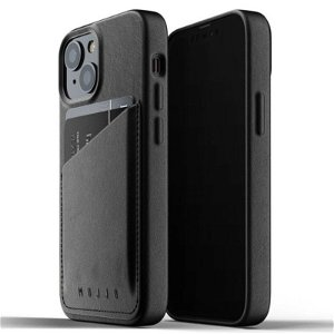 Mujjo iPhone 13 Mini Vegan Leather Wallet Deksel - Svart