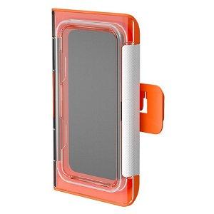 Vanntett Deksel / Holder m. Veggfeste for Smarttelefon - Oransje