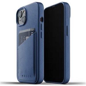 Mujjo iPhone 13 Vegan Leather Wallet Deksel - Monaco Blå