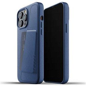 Mujjo iPhone 13 Pro Max Vegan Leather Wallet Deksel - Monaco Blå