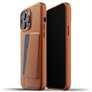 Mujjo iPhone 13 Pro Max Vegan Leather Wallet Deksel - Brun
