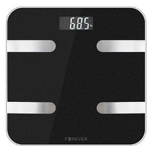 Forever AS-100 Smart Scale - Bluetooth Kroppsanalyse Badevekt - Svart